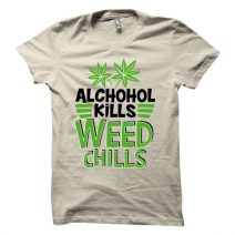 The Apparel Weed Chillis 1095 Men's Round Neck T-Shirt