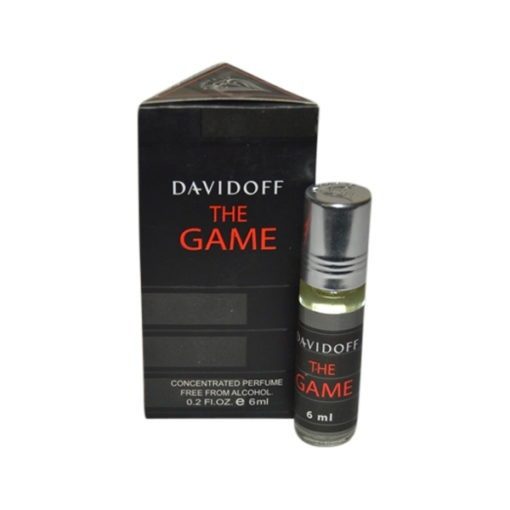 Davidoff The Game Fragrances Concentrated Black Edition Pocket Perfume – 6 ml By Castle T