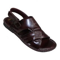 Ching Ming Gents Chocolate Summer Leather Sandal By Armansbazar