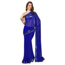 Royal Blue Gorgeous Georgette Party Saree By Laksba