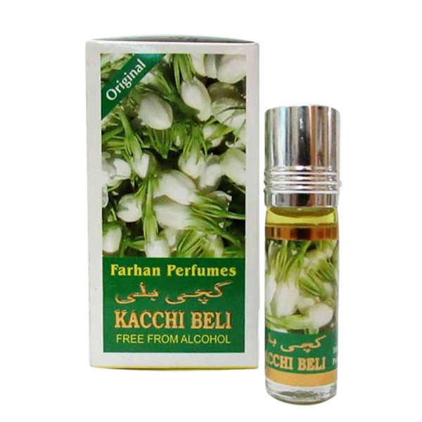 Farhan Fragrances Concentrated Kacchi Beli Edition Pocket Perfume – 6 ml By Castle T