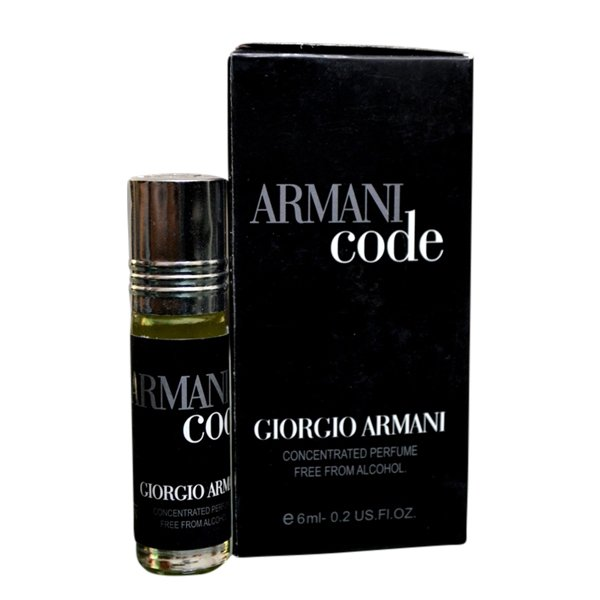 Armani Fragrances Concentrated Code Pocket Perfume – 6 ml By Castle T