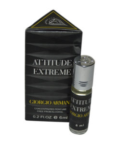 Attitude Extreme Fragrances Concentrated Black Edition Pocket Perfume – 6 ml By Castle T