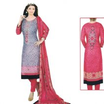 Unstitched Printed Cotton Salwar Kameez 29377