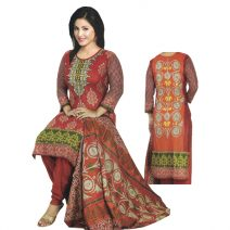 Unstitched Printed Cotton Salwar Kameez 29400