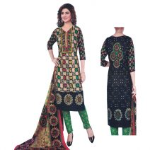 Unstitched Printed Cotton Salwar Kameez 29401