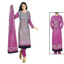 Unstitched Printed Cotton Salwar Kameez 29390
