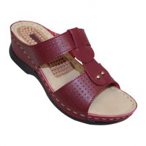 Louis Dollars Maroon Medical Soft Sandal By Armansbazar