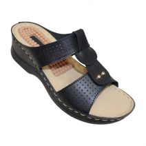 Louis Dollars Black Medical Soft Sandal By Armansbazar