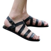 Black Leather Modish Belt Design Men's Sandals WOW-78 By AlexshopBD
