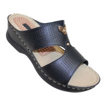 Louis Dollars Black Cleft Style Medical Soft Sandal By Armansbazar