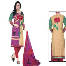 Unstitched Printed Cotton Salwar Kameez 29392