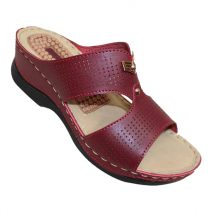 Louis Dollars Maroon Cleft Style Medical Soft Sandal By Armansbazar
