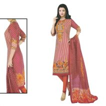 Unstitched Printed Cotton Salwar Kameez 29394