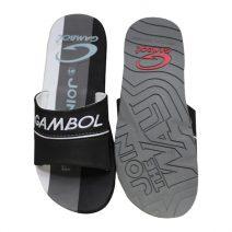 GAMBOL Stylish Mens Summer Black & Ash Slipper By Armansbazar
