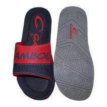 GAMBOL Stylish Mens Summer Navy Blue & Red Slipper By Armansbazar