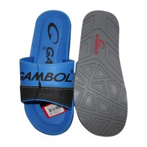 GAMBOL Stylish Mens Summer Blue & Black Slipper By Armansbazar