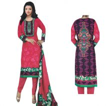 Unstitched Printed Cotton Salwar Kameez 29395