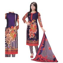 Unstitched Printed Cotton Salwar Kameez 29396