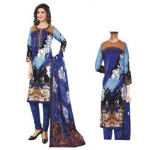Unstitched Printed Cotton Salwar Kameez 29397