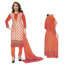 Unstitched Printed Cotton Salwar Kameez 29398
