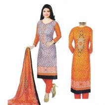 Unstitched Printed Cotton Salwar Kameez 29399