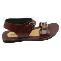 Chocolate Brown Leather Men's Sandals Colorful-207 By AlexshopBD