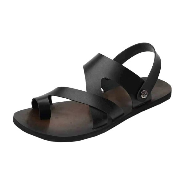 Brown With Black Belt Leather Men's Sandals Doo-30 By AlexshopBD