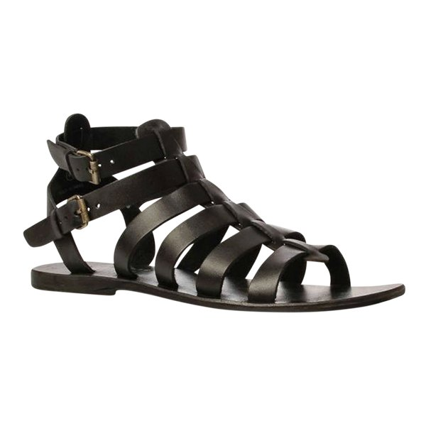 Black Leather Belt Design Men's Sandals Doo-20 By AlexshopBD