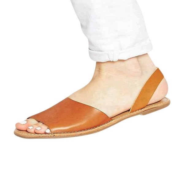 Orange Leather Stylish Men's Sandals Exclusive-27 By AlexshopBD