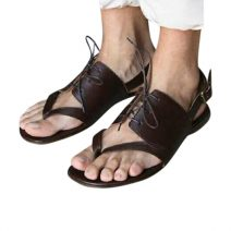 Brown Leather Fashionable Men's Sandals Hem-001 By AlexshopBD