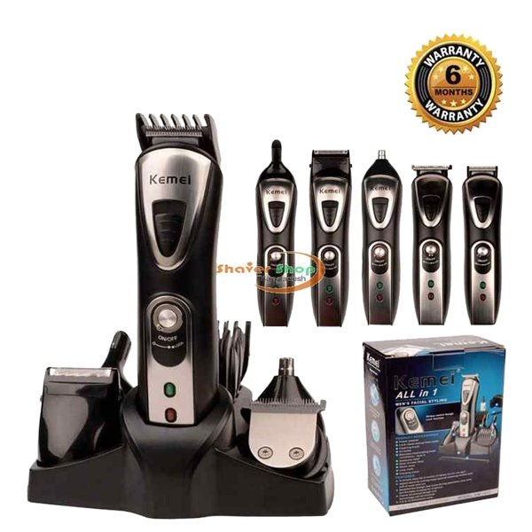 Kemei Original Electric Rechargeable 9 in 1 Shaver,Trimmer,Nose Trimmer,Hair Clipper KM-1617