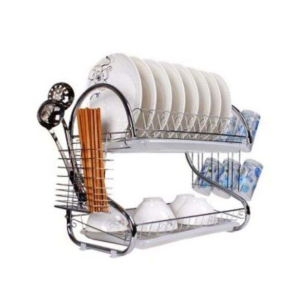 S Shape 2-Layer Dish Drainer