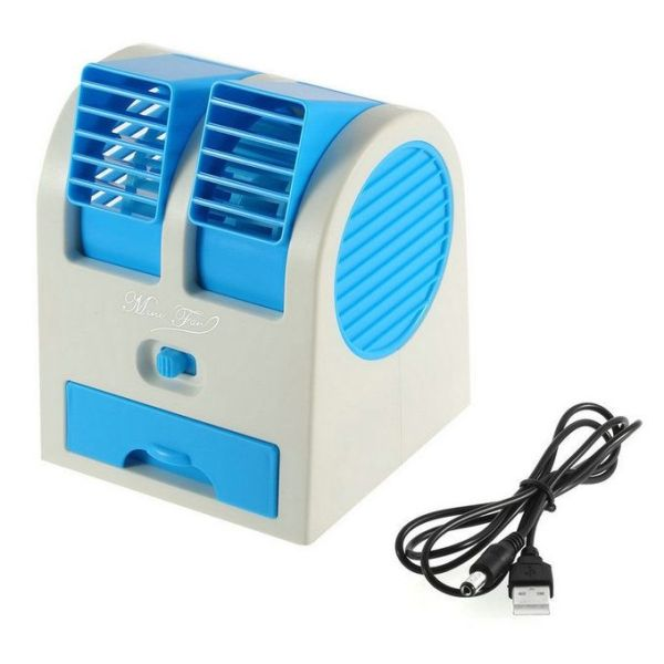 USB Mini Cooling Portable Fan Blue