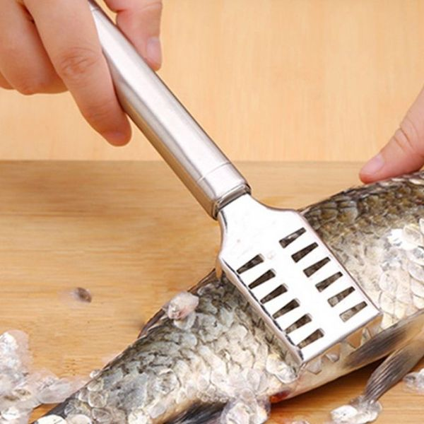 Stainless Steel Silver Fish Scale Cleaner Peeler Scraper
