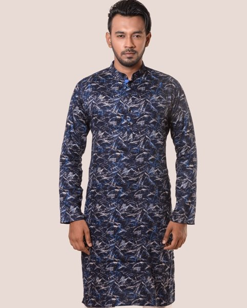 Lavelux Men's Multi-color All Over Printed Panjabi Cotton Panjabi