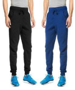 Lakbuas Men's Super Skinny Combo Pack Black And Blue Rib Trouser RTP-066