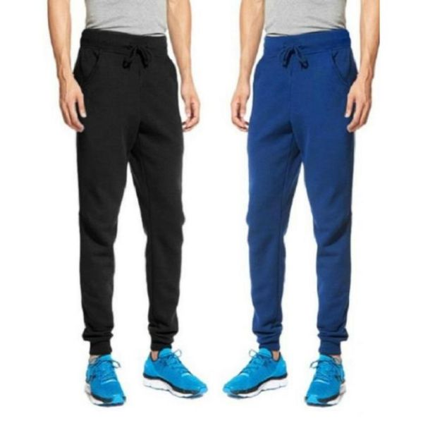 Lakbuas Men's Super Skinny Combo Pack Black And Blue Rib Trouser RTP-066