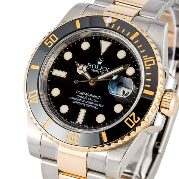 Rolex Submariner Black Gents Wrist Watch (Copy)