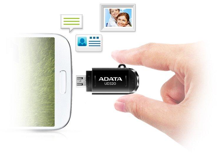 ADATA OTG Pen Drive DashDrive Durable UD320 USB Flash Drive – (16GB, USB2.0, UD320)