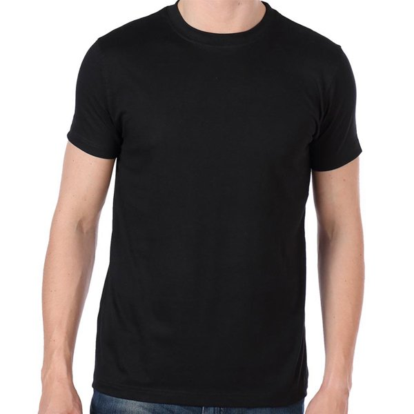 Men's Round Neck T-Shirt by Moynul Solid Black (MMST-02)