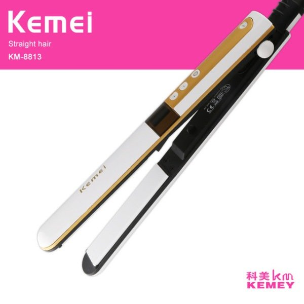 Kemei Exclusive Hair roller Hair Straightener Dual Ceramic Heating Plate- KM-8813