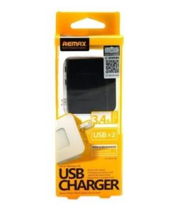 REMAX USB Charger 3.4A 2 Port RMT6188 - Black and Yellow