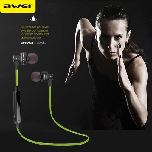 Awei A990BL Sport Wireless Bluetooth - Black