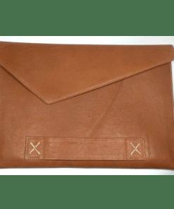 Craft & Tailor বাদামী ১৩ ইঞ্চি পর্যন্ত ল্যাপটপ/ম্যাকবুক লেদার পাউচ ব্যাগ