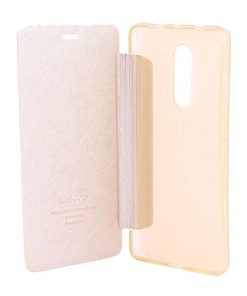 Flip Cover Case for Redmi Note 4, 4x - Rose Gold
