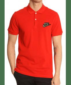জেন্টস লাল Nike লোগো হাফ হাতা কটন পোলো শার্ট PT57