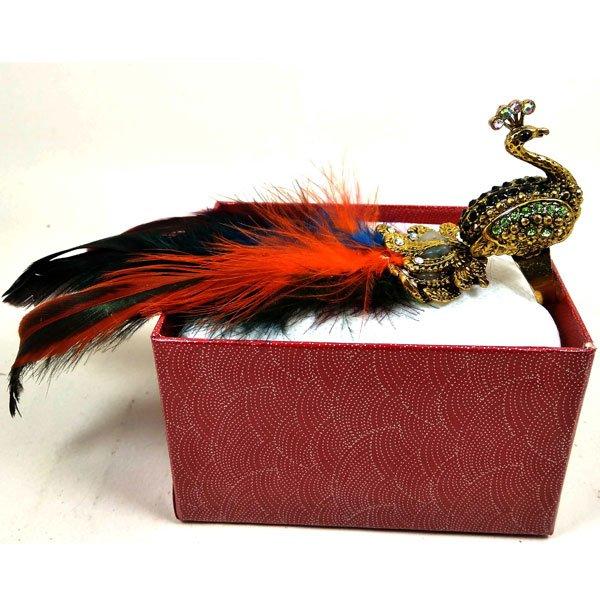 মাল্টি কালার ময়ূর সবুজ স্টোন ডিজাইনের হাতের আংটি