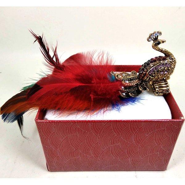 মাল্টি কালার ময়ূর হালকা বেগুনী স্টোন ডিজাইনের হাতের আংটি