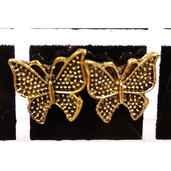 প্রাচীন বড় প্রজাপতি ডিজাইনের সোনালী টিনি টবস